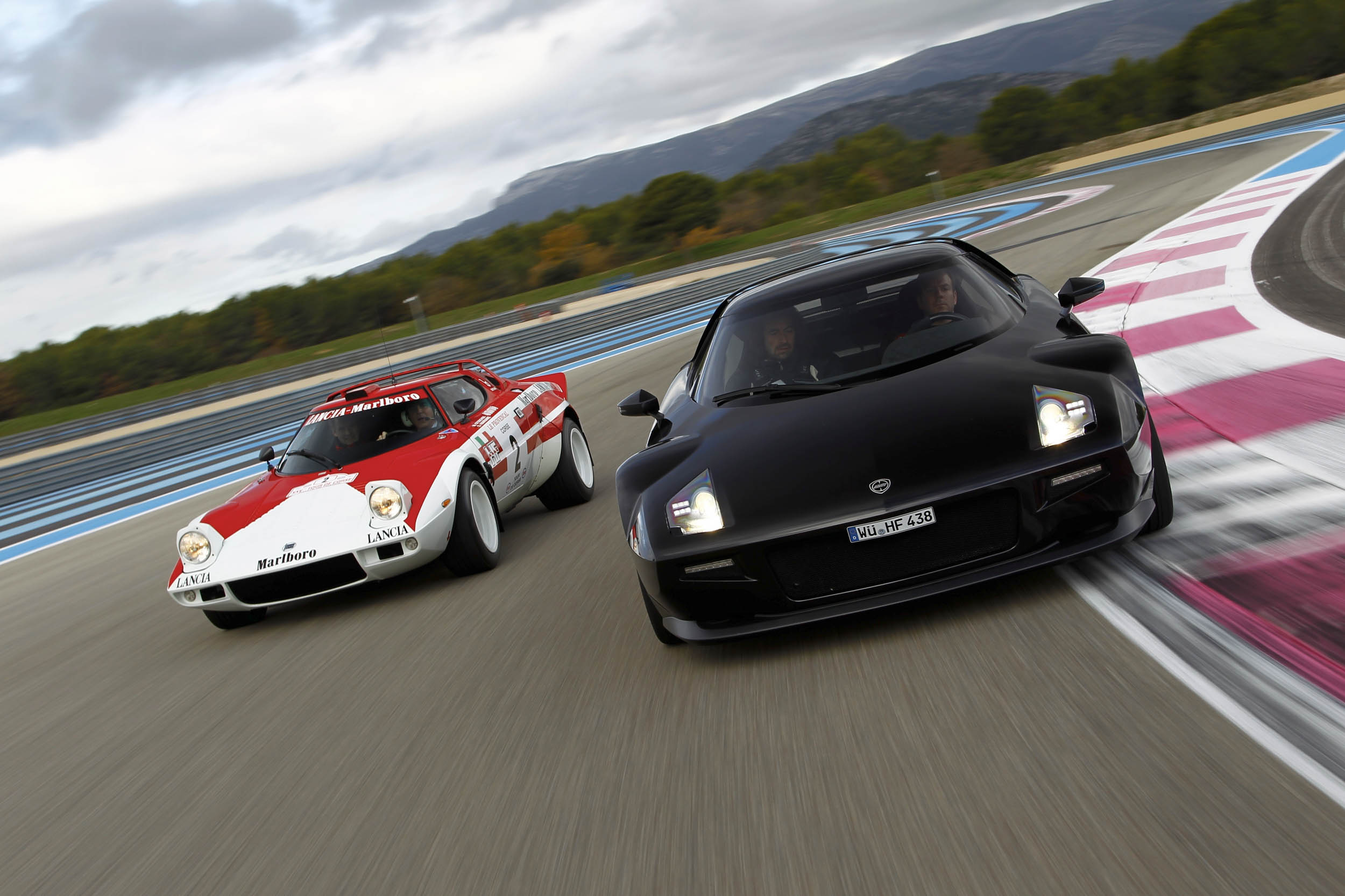 New Stratos racing on the track
