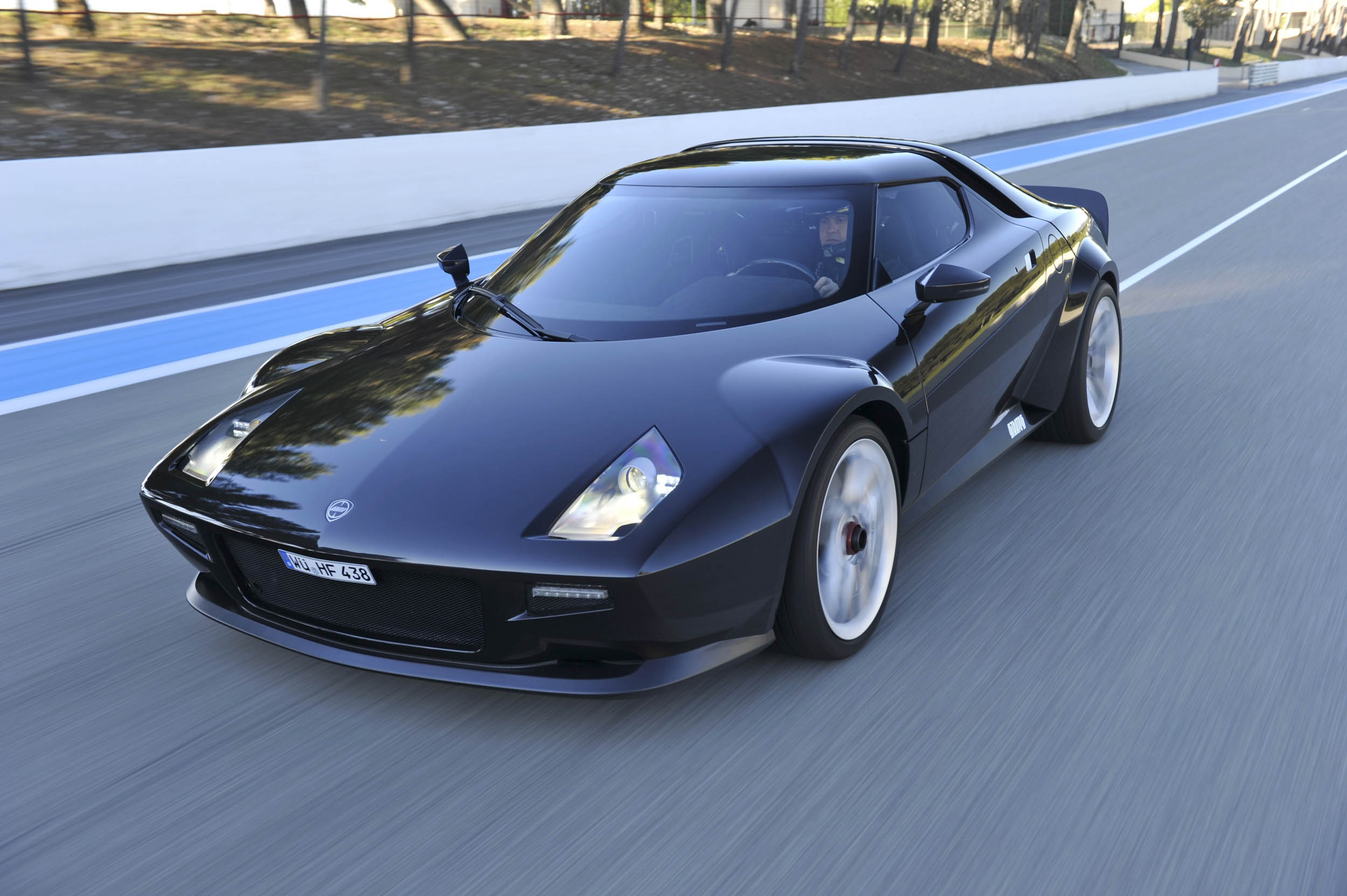 New Stratos driving front 3/4