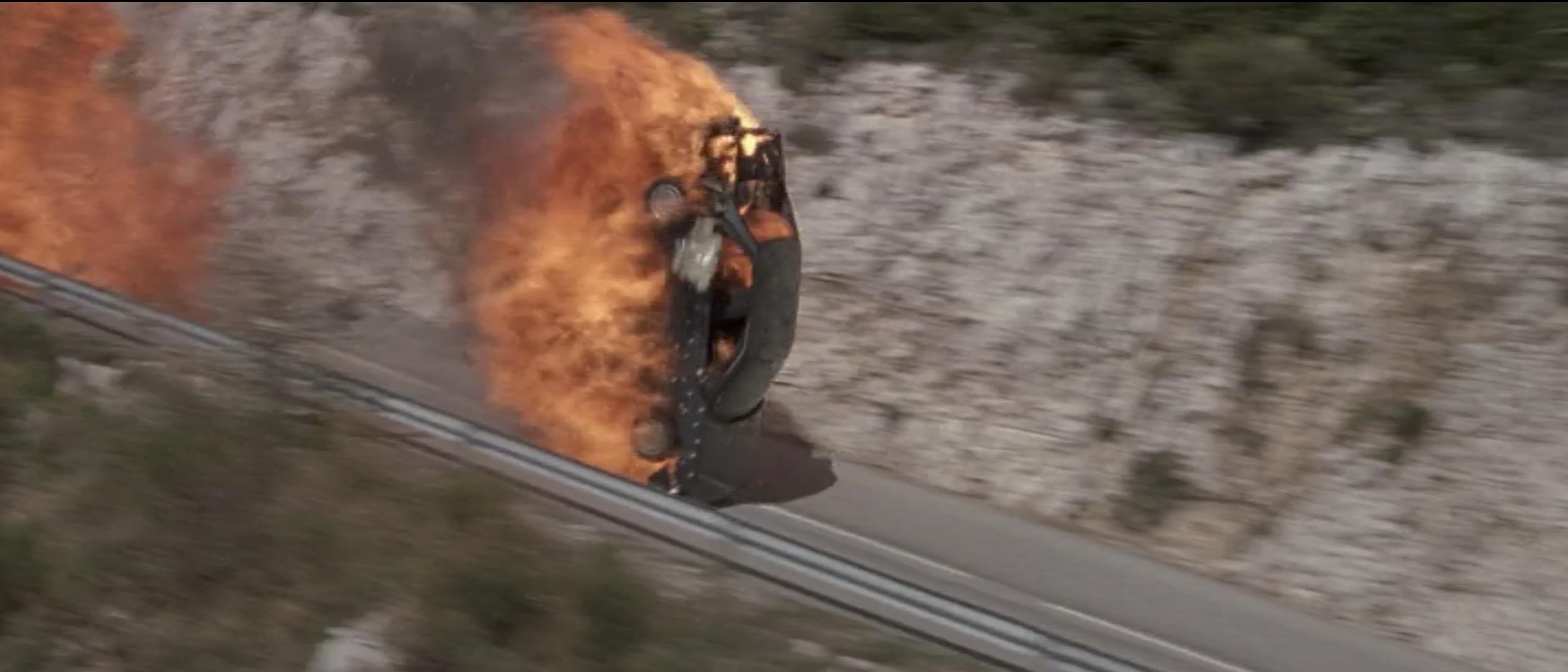 Ronin Car flip explosion