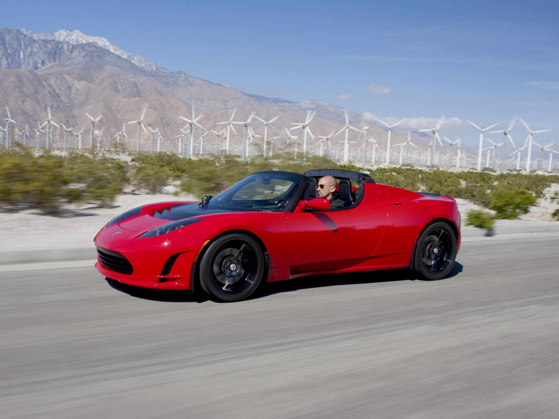 2011 Tesla Roadster front 3/4
