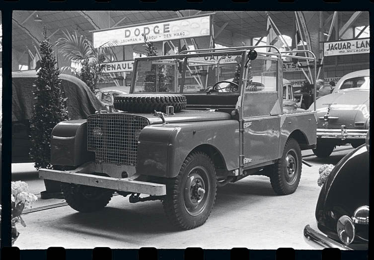 Land Rover Series I launch Amsterdam 1948