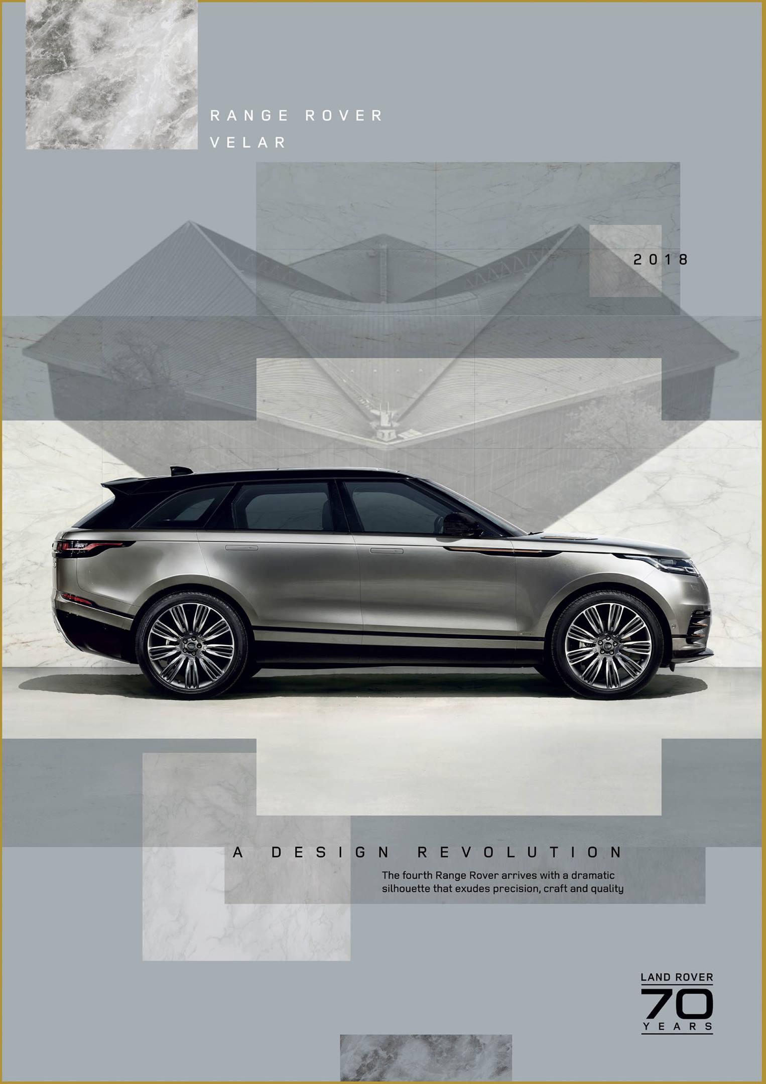 2018 Range Rover Velar poster