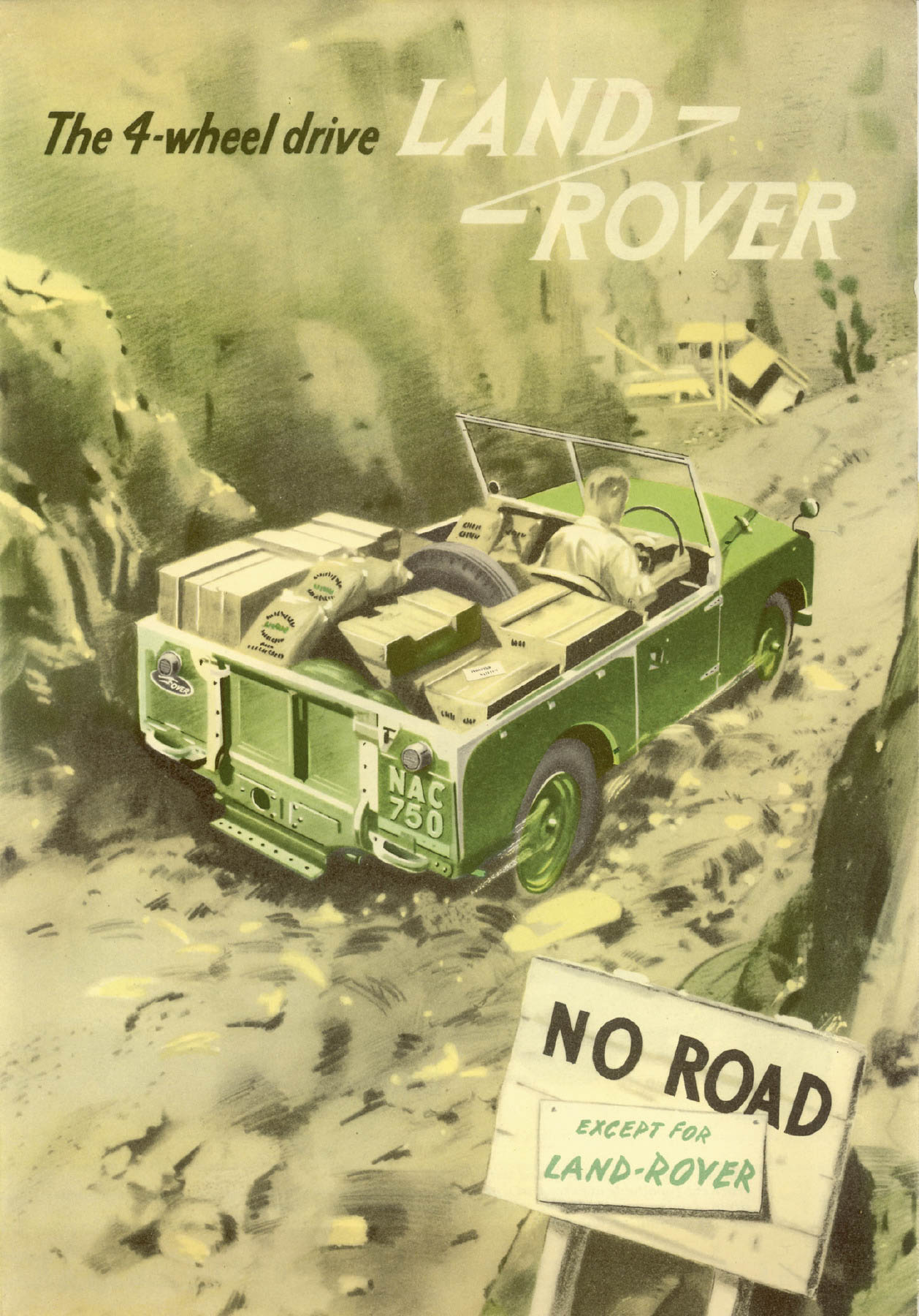 classic Land Rover ad from 1954