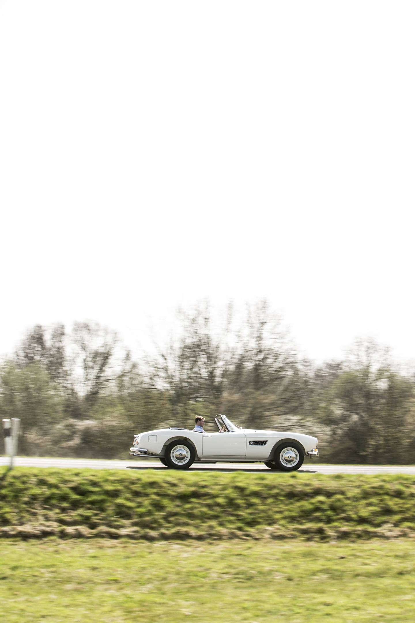 1959 BMW 507 Roadster driving