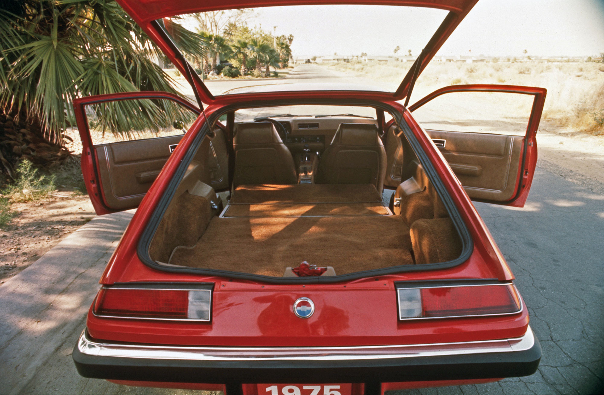 rear interior of Chevy Monza