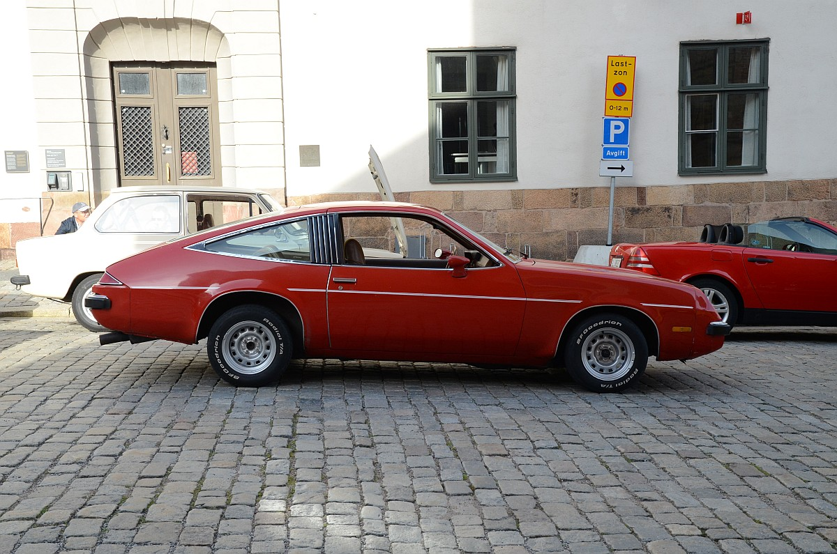 Per Lönnborg's 1975 Monza out for a cruise in Stockholm, Sweden. He replaced the original 263 c.i.d. V-8 with an upgraded 350.