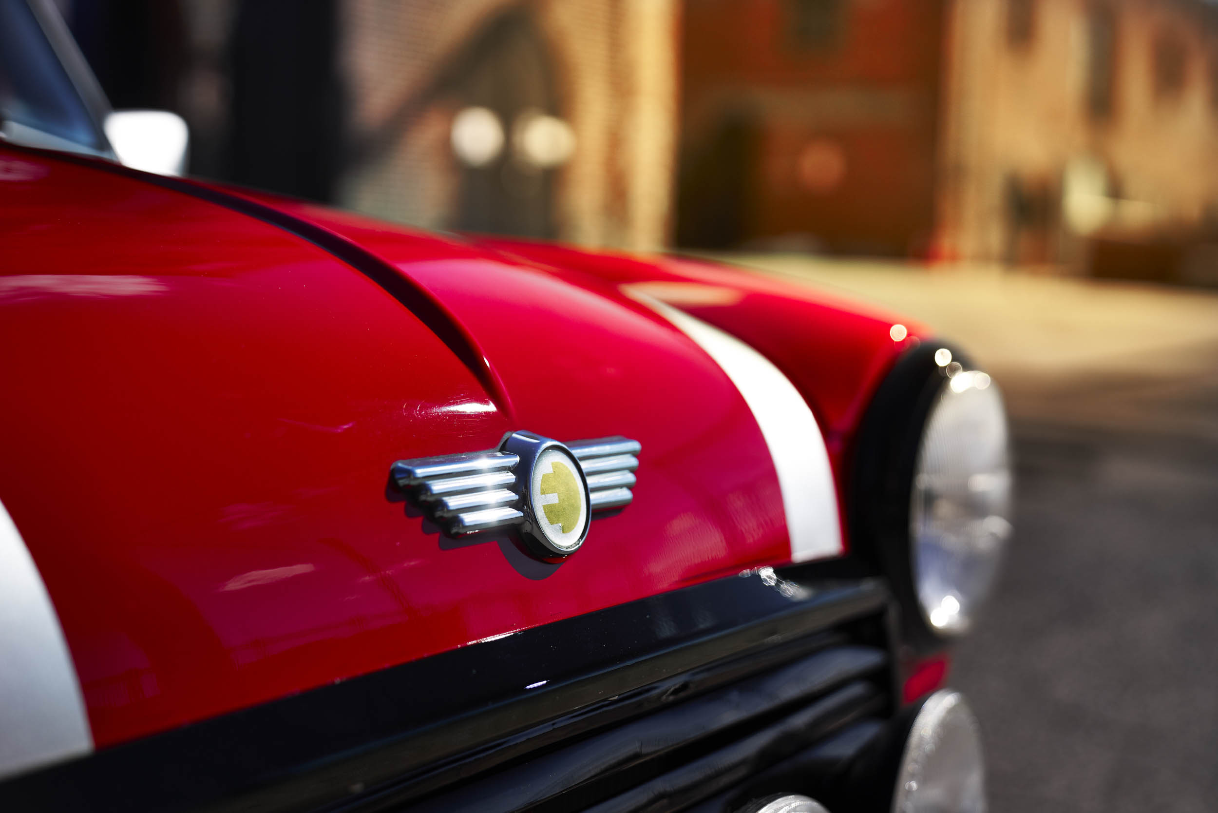 electric classic Mini front end