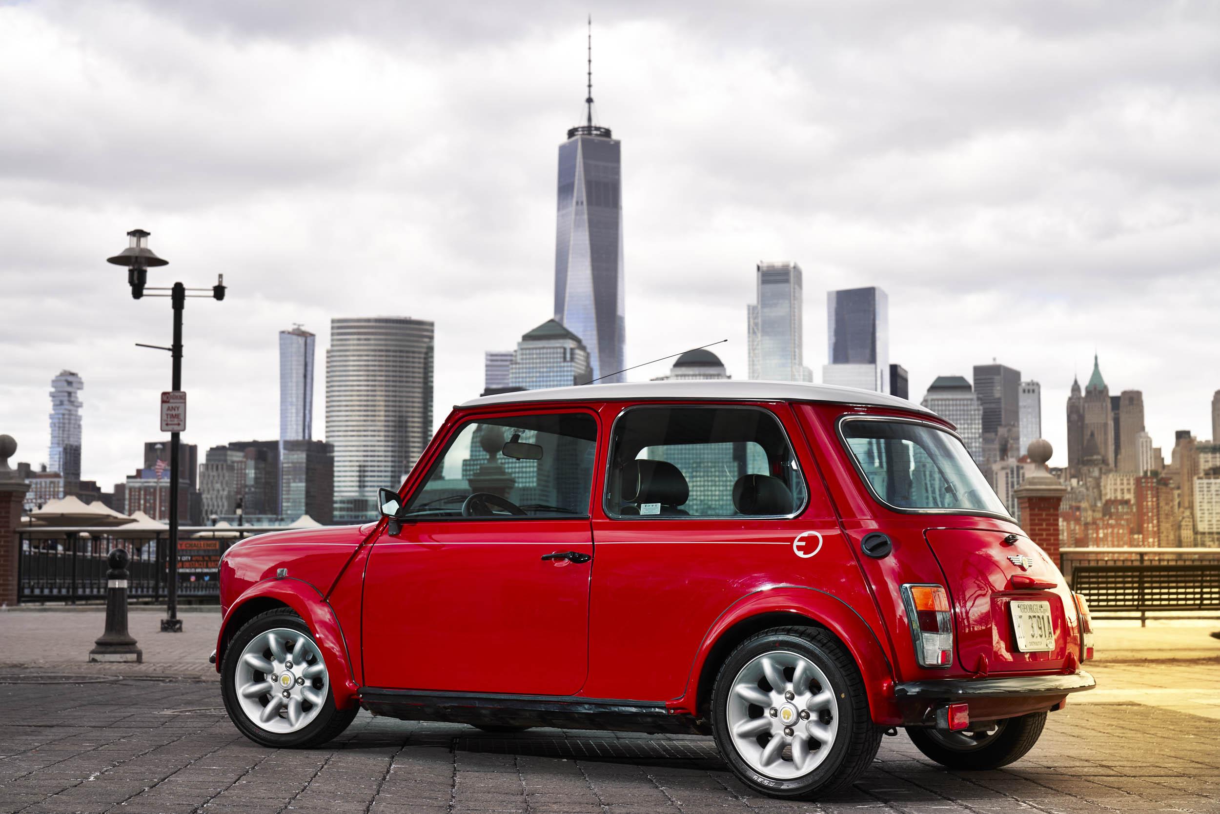 electric classic Mini rear 3/4