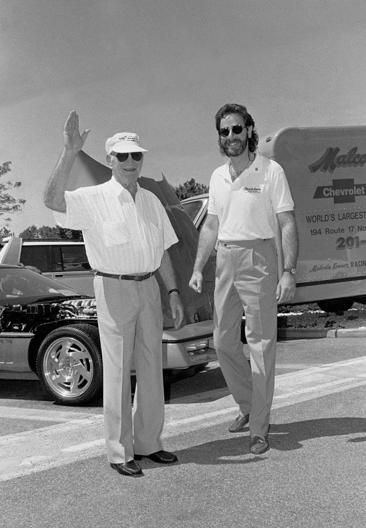 Gary Konner (right) and Zora Arkus-Duntov in 1991.