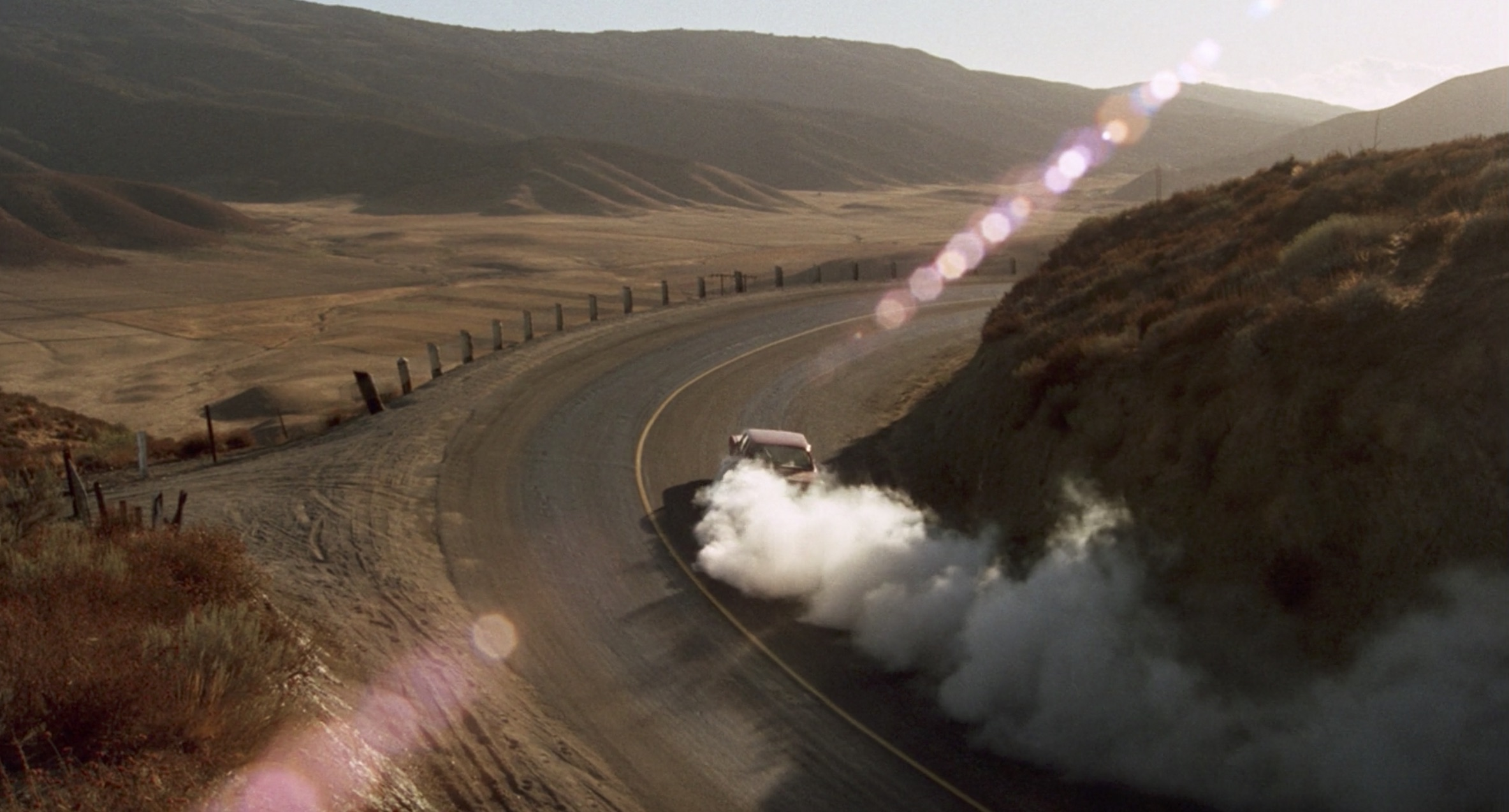 1971 Plymouth Valiant burnout car chase Duel