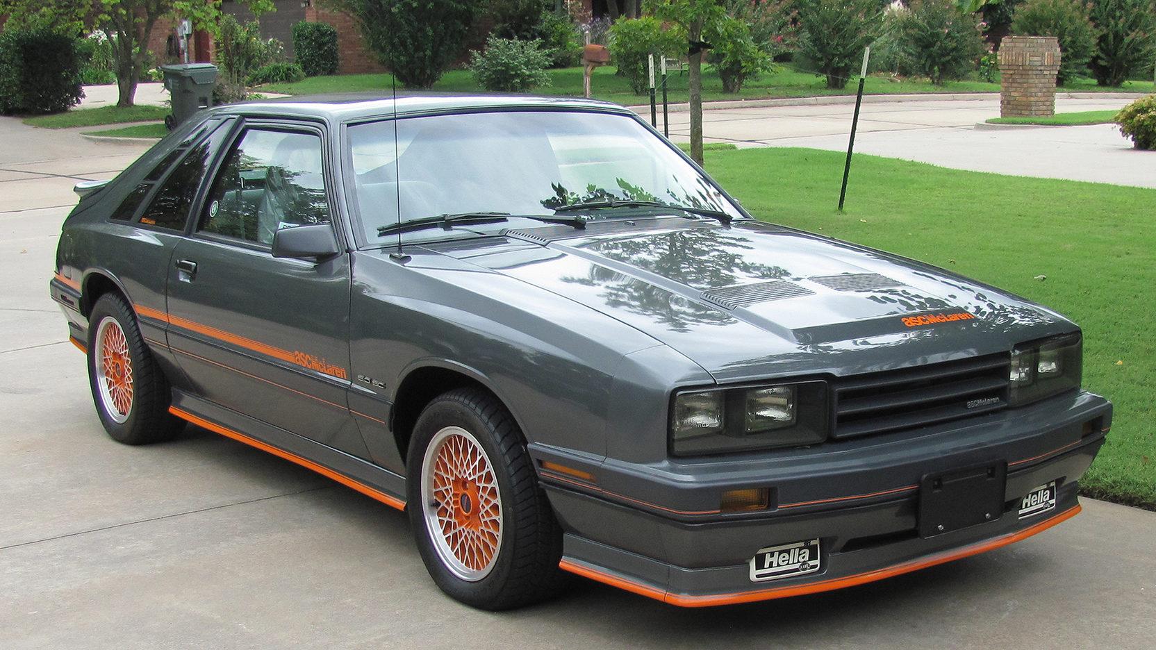 1986 ASC McLaren Mercury Capri