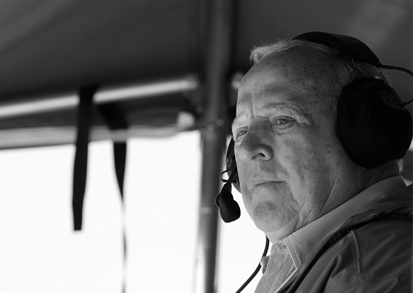 After he retired from driving, Foyt continued in IndyCar racing as a car owner. Here he oversees operations at the 2012 Izod IndyCar Toyota Grand Prix of Long Beach.