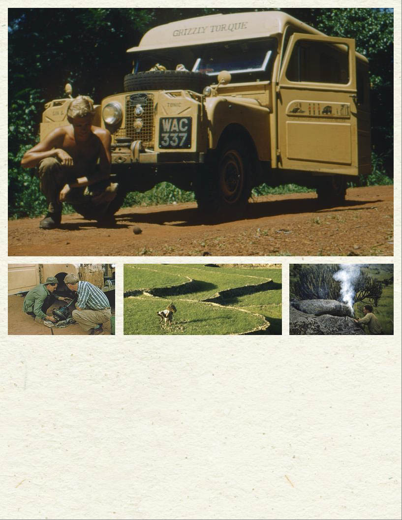 scanned photos of the 1957 Land Rover the Grizzly Torque