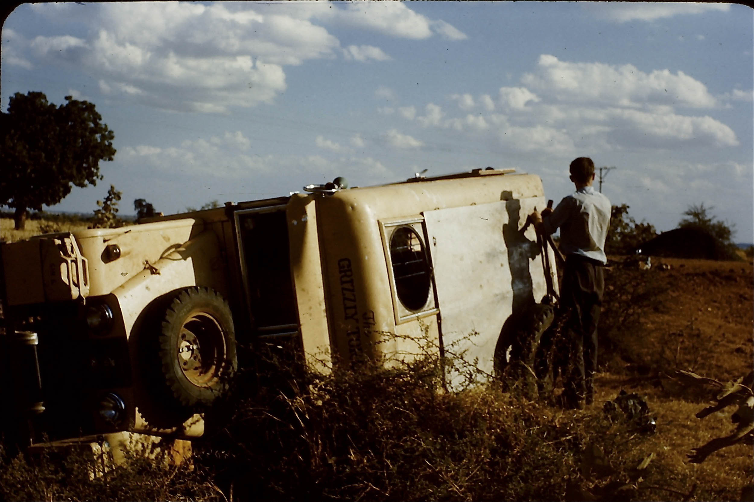 1957 Land Rover roll over accident