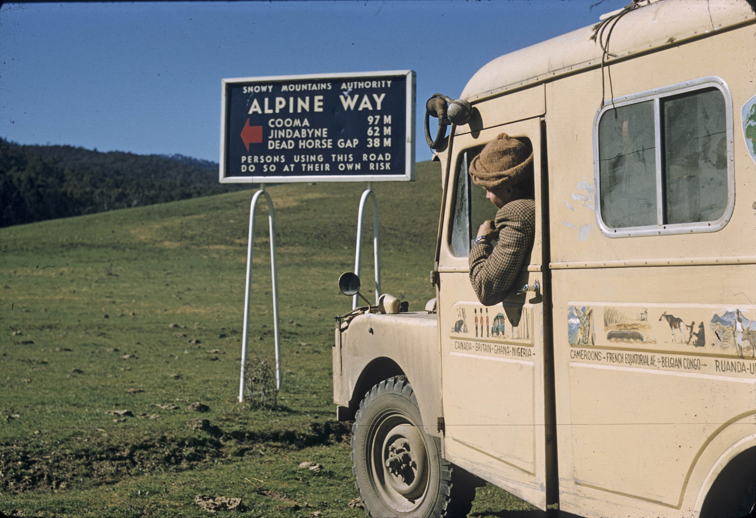 1957 Land Rover the Grizzly Torque driving the Alpine Way