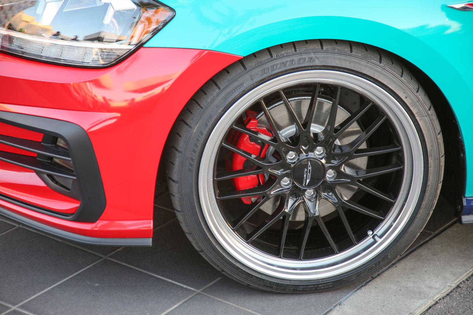 Harlequin VW Golf wheel