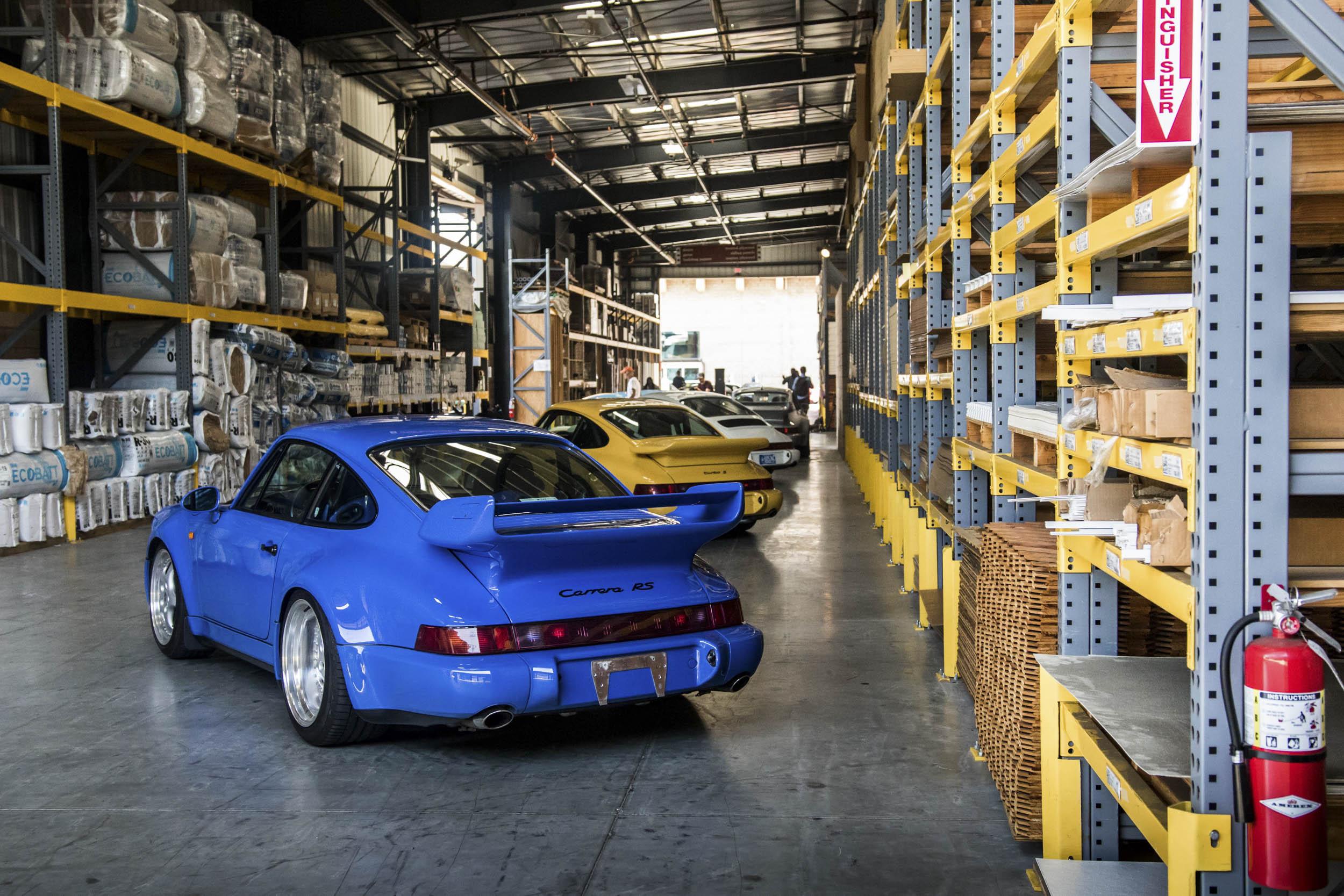Porsche 911 line up at Luftgekühlt