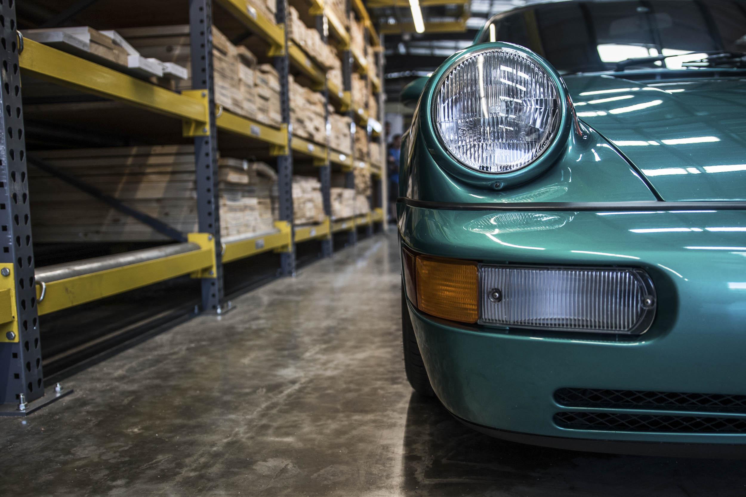 Porsche headlight detail
