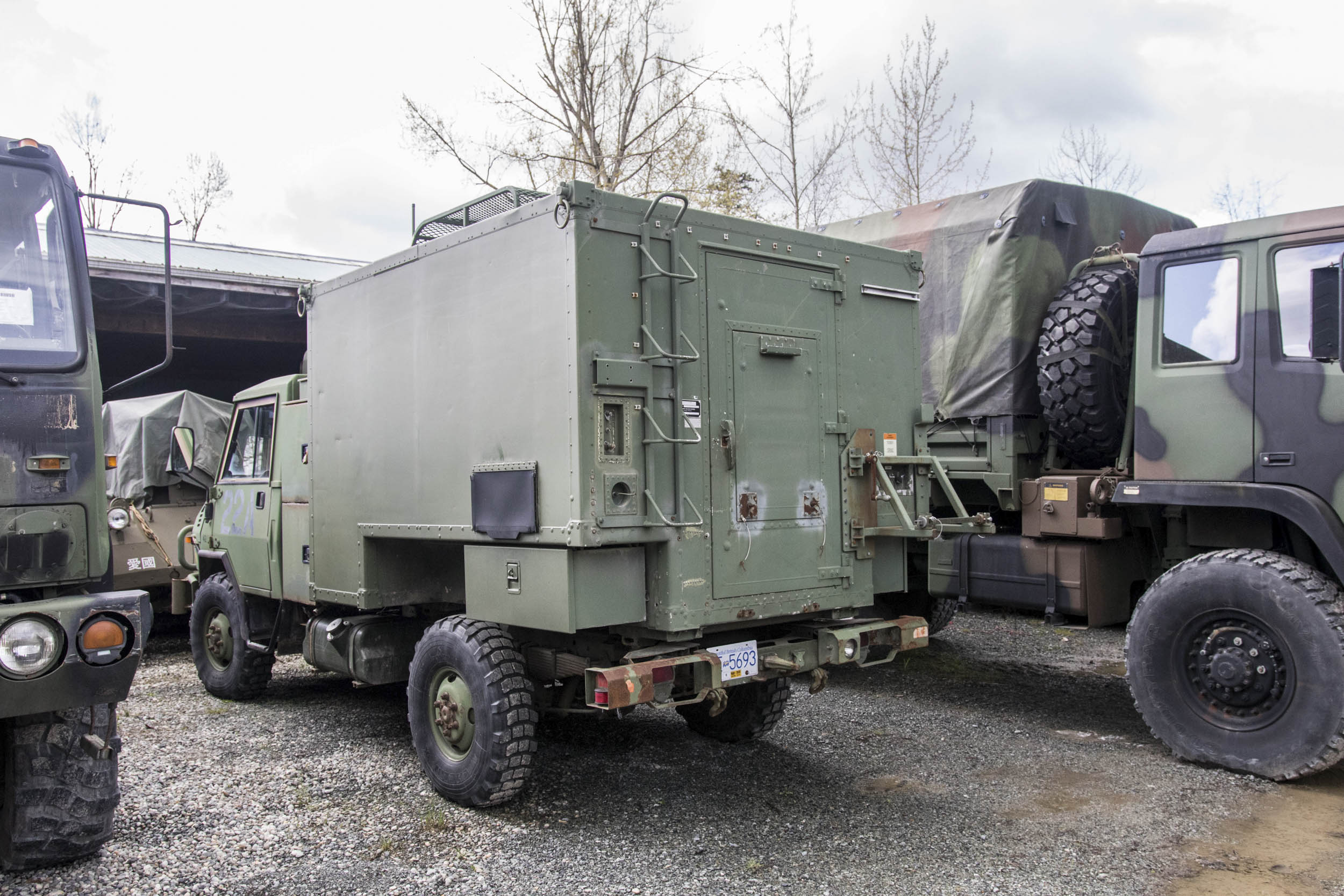 All decommissioned U.S. military vehicles must go to auction bearing decals showing how much they cost the American taxpayer. This mobile command came with a six-figure bill.