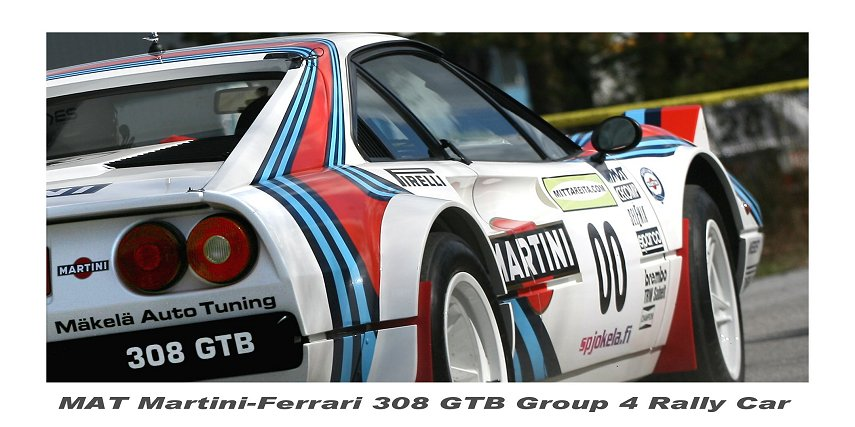 Ferrari 308 GTB Group 4 rally car