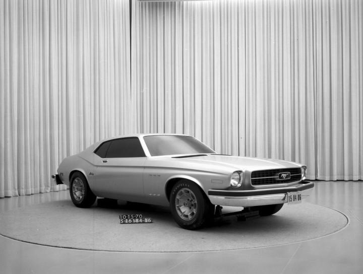 1970 Mustang II Early Design Proposal Maverick Elements original platform