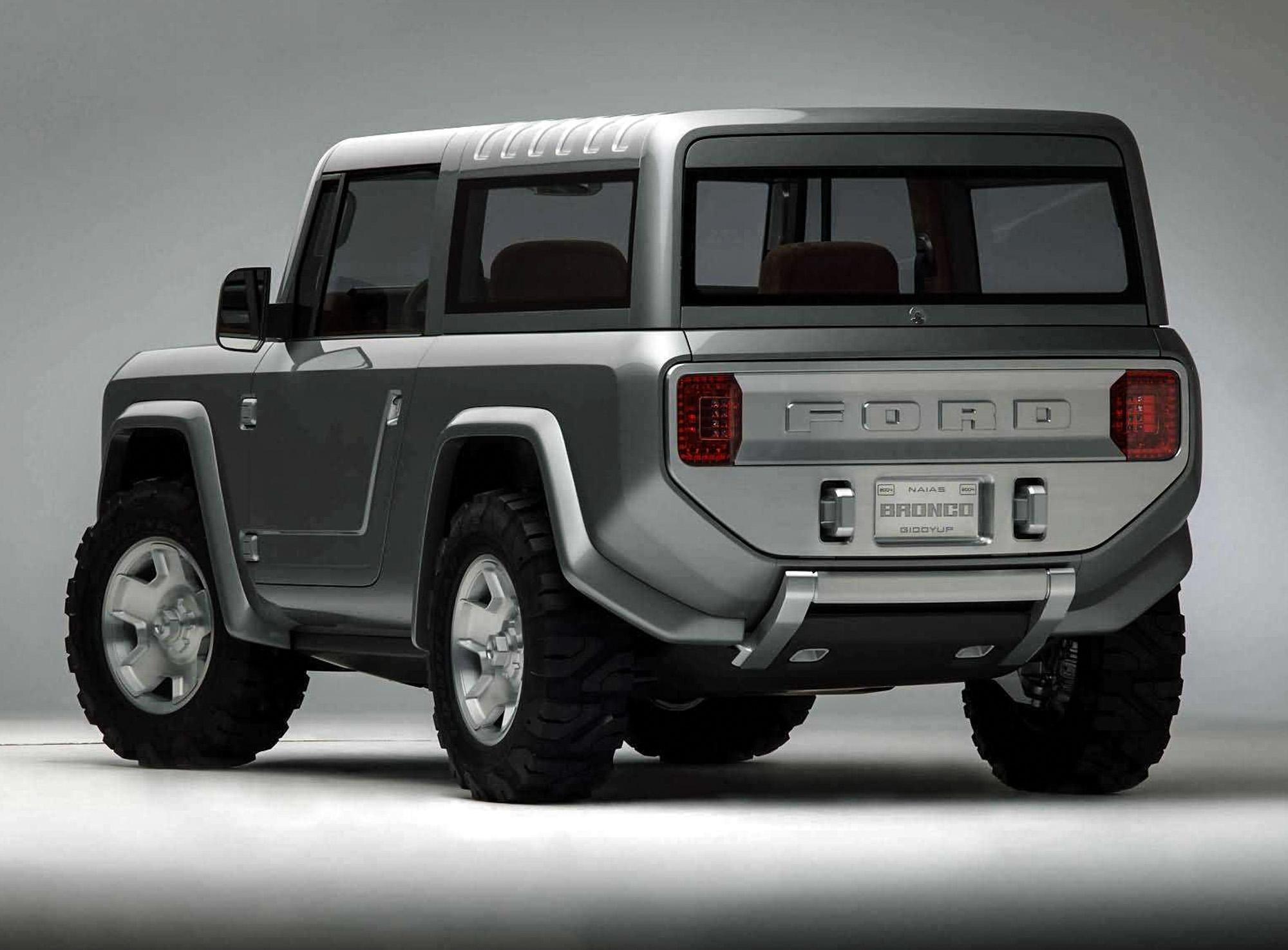 Ford Bronco Concept rear 3/4