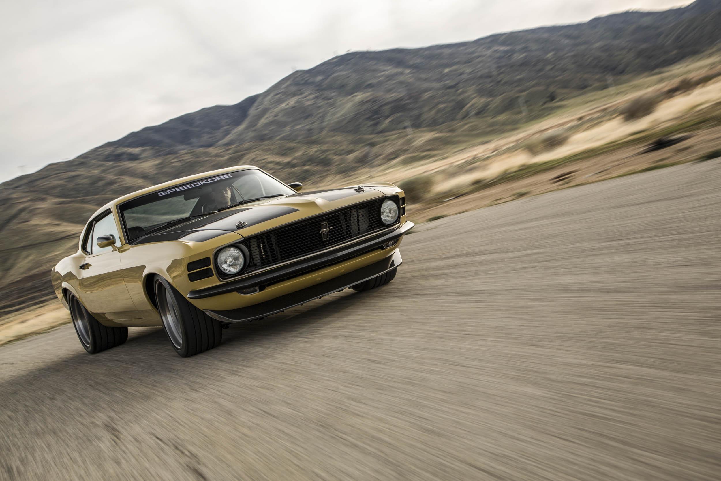 Robert Downey Jr.'s Speedkore 1970 Mustang driving