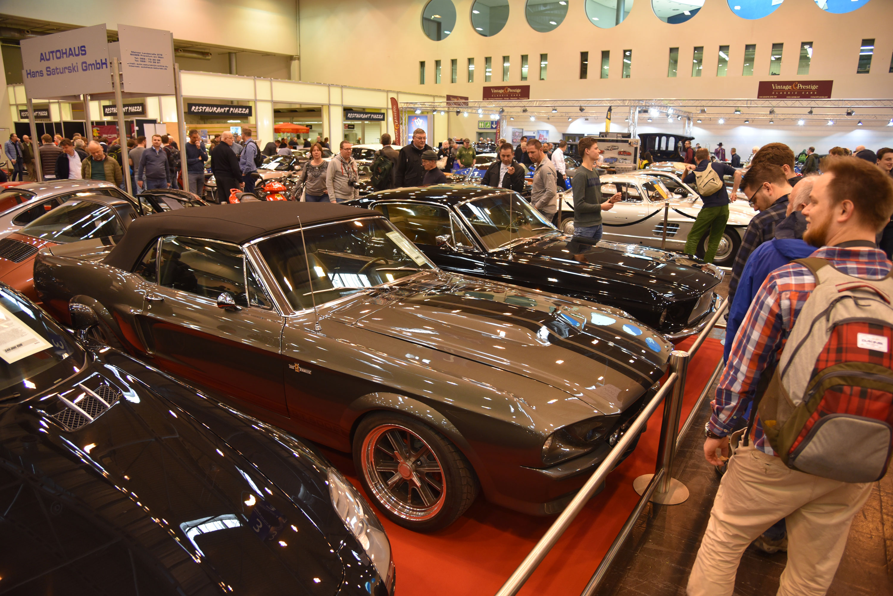 The Mustang was by far the most common American car to be seen at Techno Classica Essen, though a few vintage Cadillacs, a Ford Fairlane racer, and a number of classic Chevys also represented Old Glory on foreign shores.
