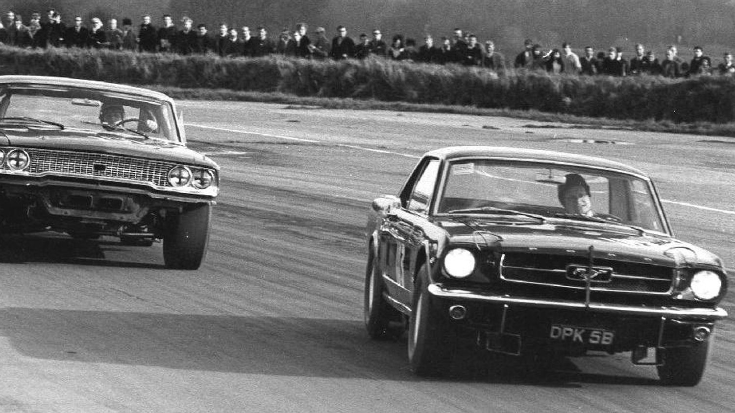 Battle Yanks: The sole surviving Tour de France Mustang, seen here ahead of a '63 Ford Galaxie 427, which did not finish the race.