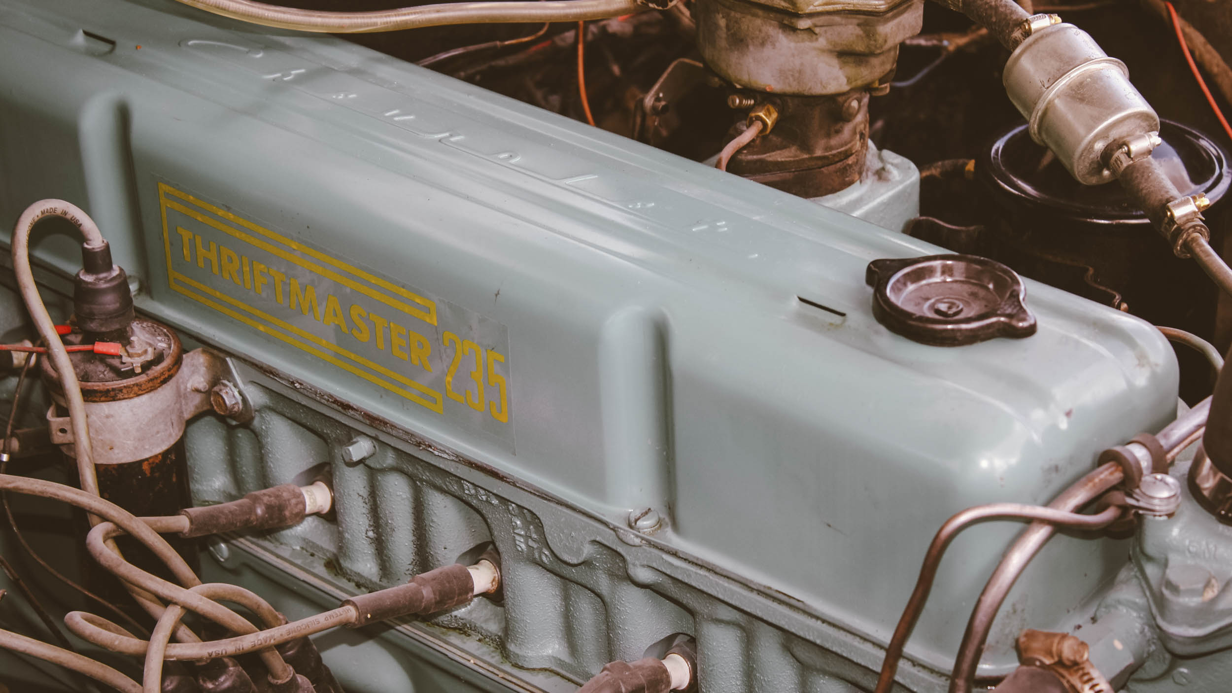 """The """"Thriftmaster"""" sticker sets this engine apart as being the 235 for the truck line instead of the 235 for a passenger car."""