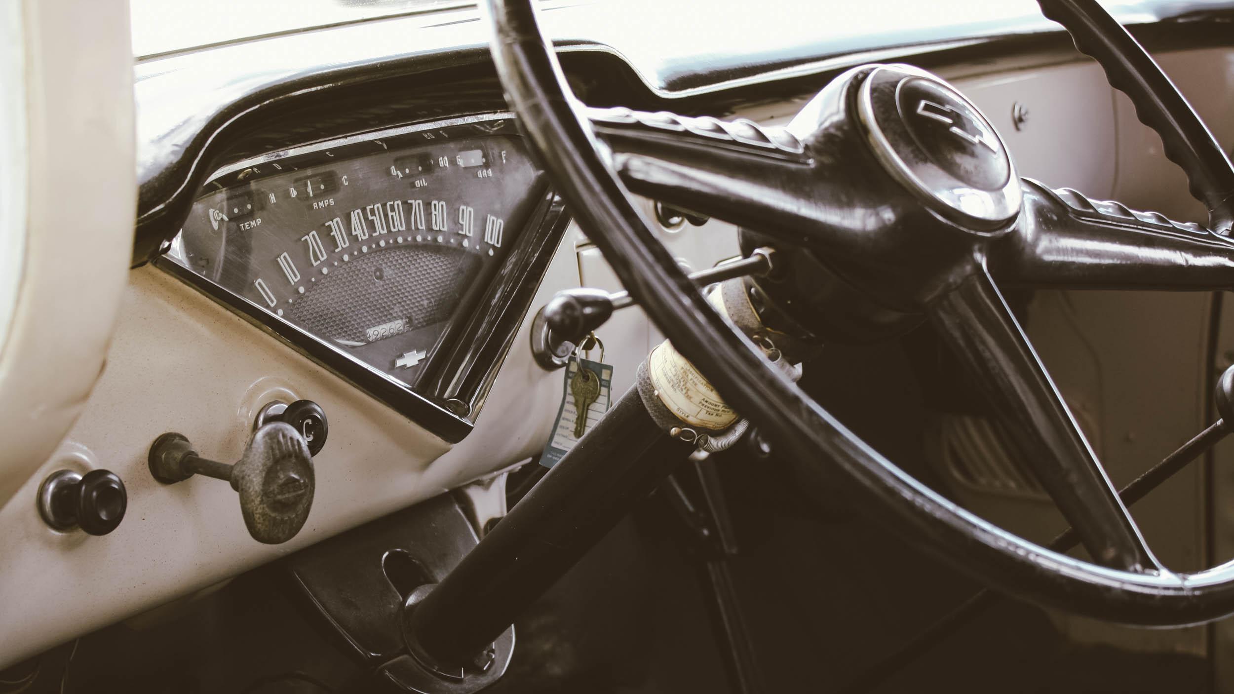 1955 Chevrolet Steering Wheel Detail