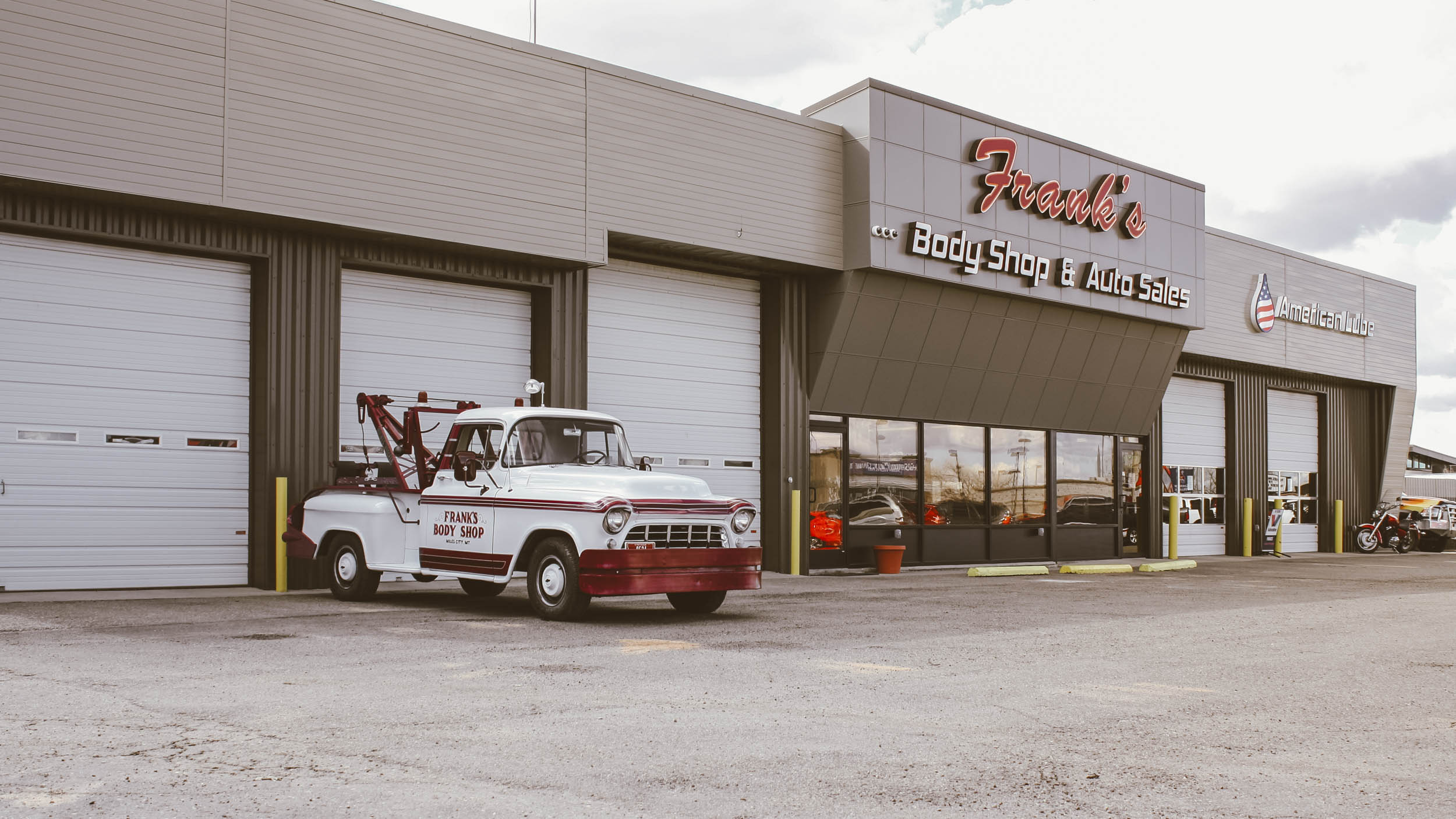 Frank's Body Shop moved to its current location in 1974, when the '55 was left in the yard for years. Tim said he got frustrated watching it sit and rust, so he dragged it in and started working on it.