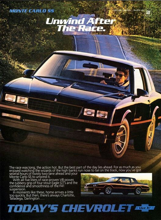 1984 Monte Carlo SS Advertisement