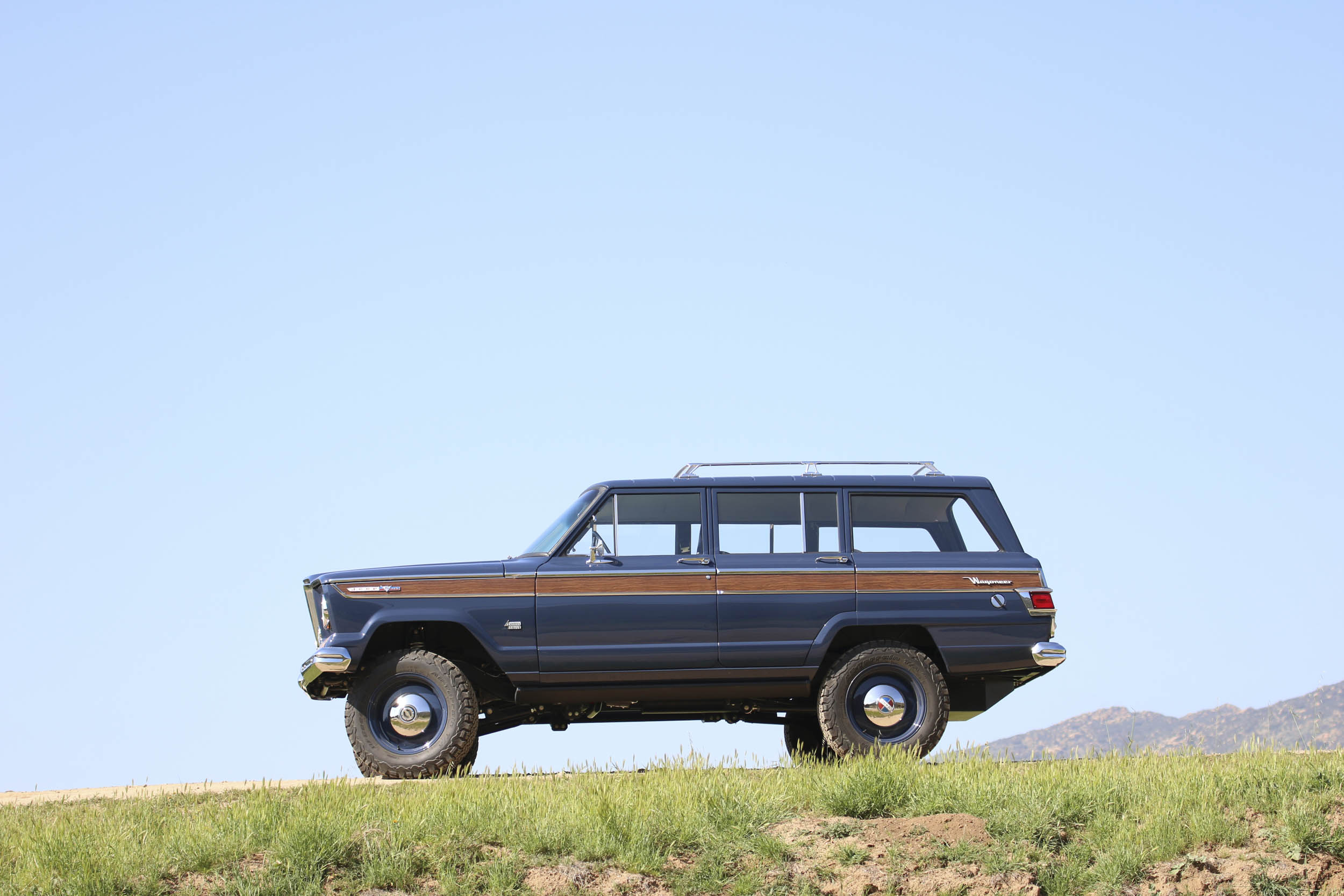 ICON Wagoneer on top of a hill profile