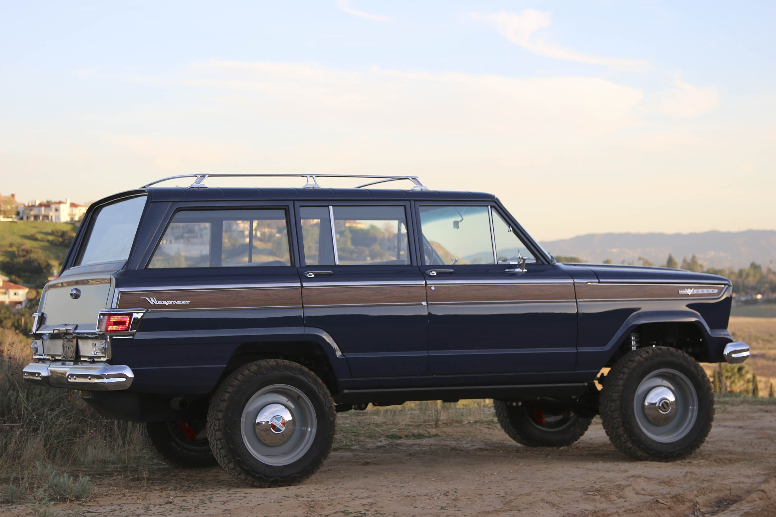 ICON Jeep Wagoneer profile at sunset