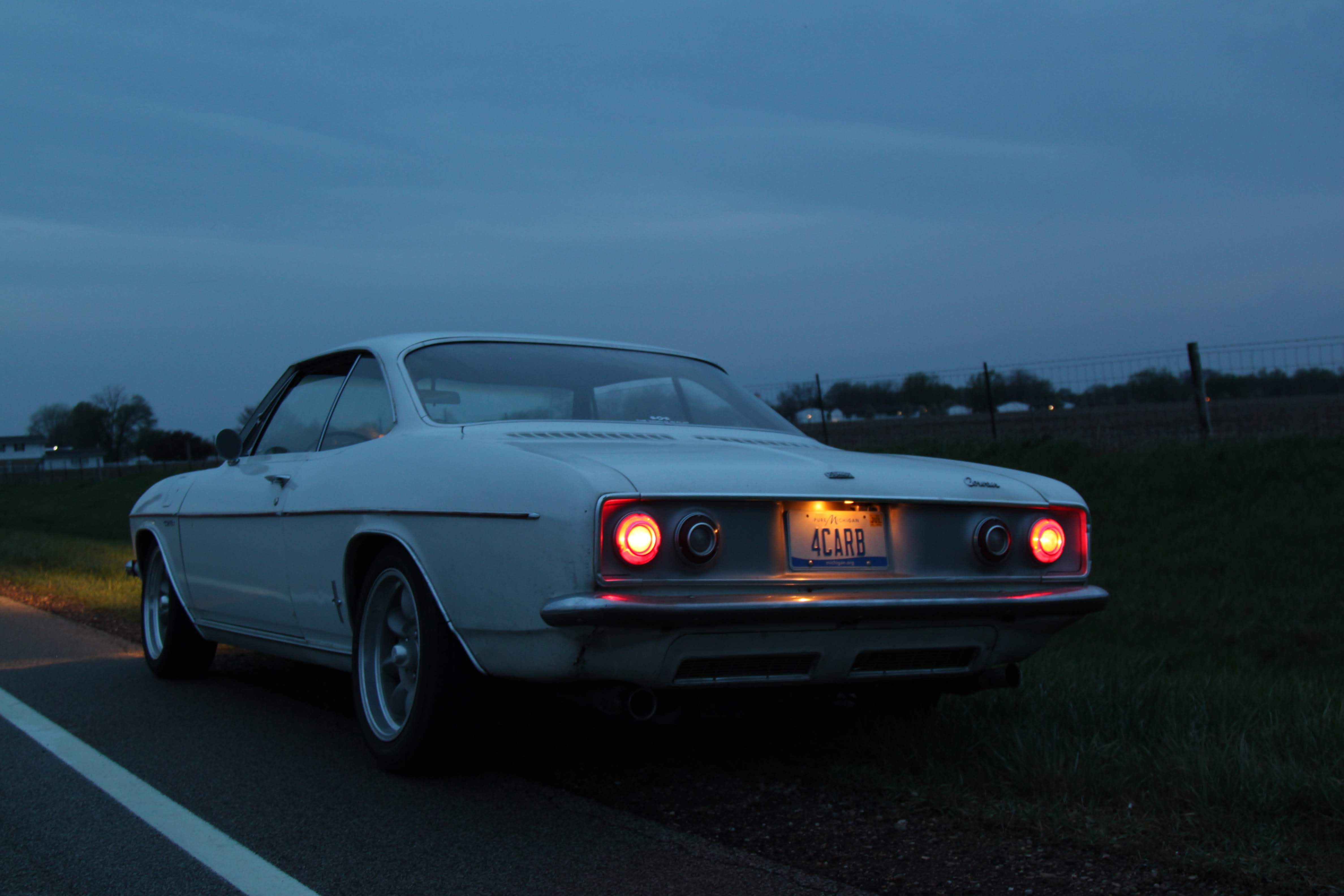 With a storm rolling in the skies were dark, but the cool air kept the air cooled engine happy