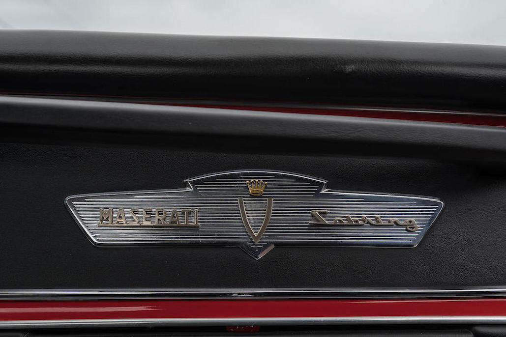 1963 Maserati Sebring 3500GTi Series 1 dashboard badge