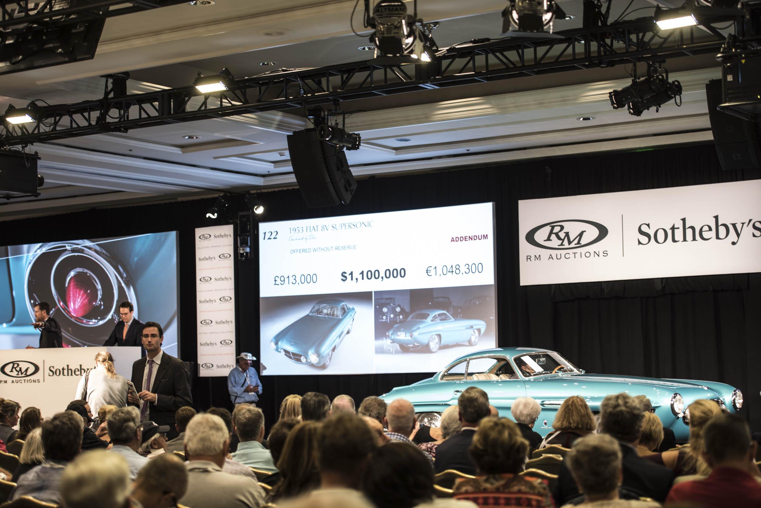 2017 Amelia Island RM Auction 1953 Fiat 8V Supersonic sale
