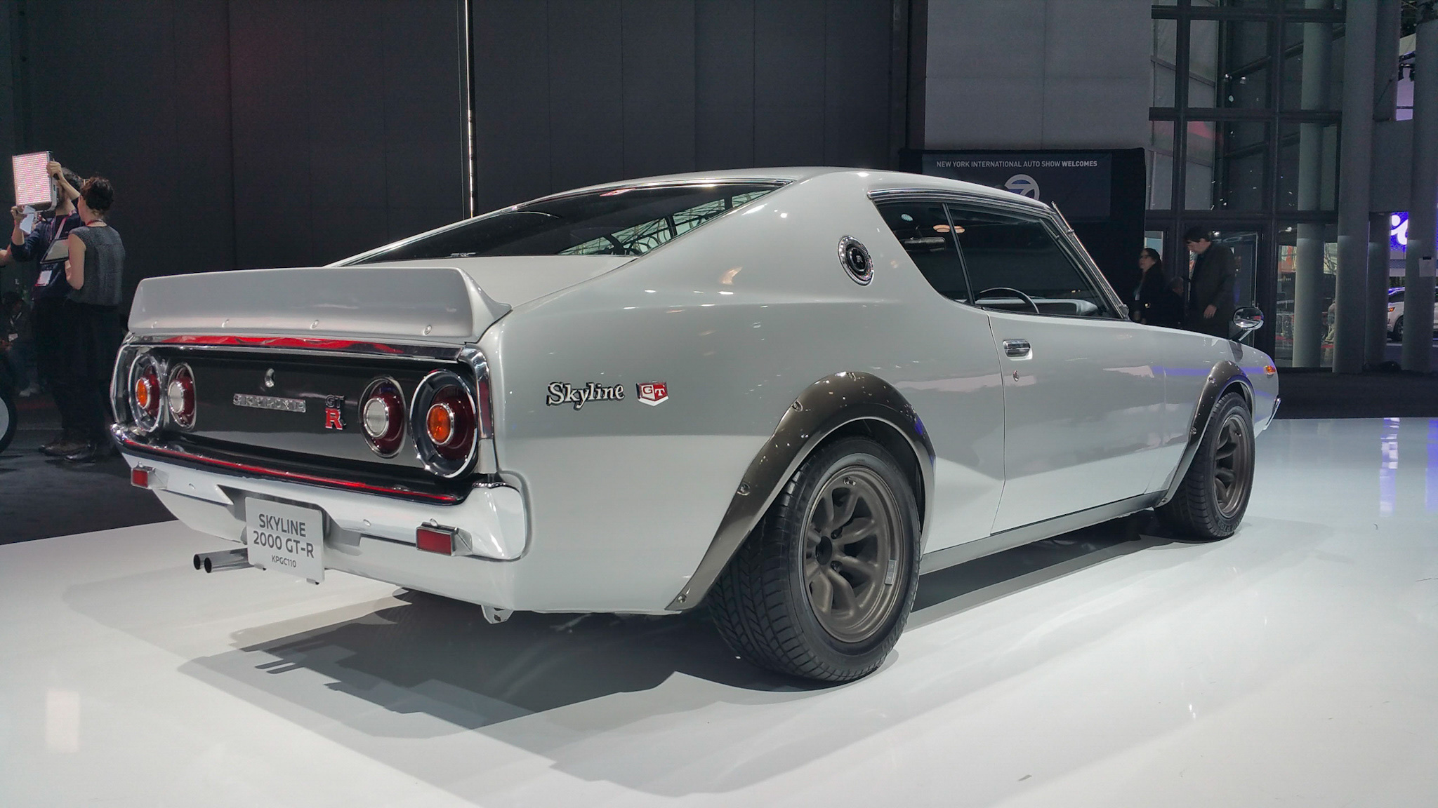 Restored and modified 1973 Nissan Skyline 2000 GT-R at the 2016 New York International Auto Show Rear 3/4
