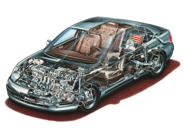 Toyota Prius cutaway