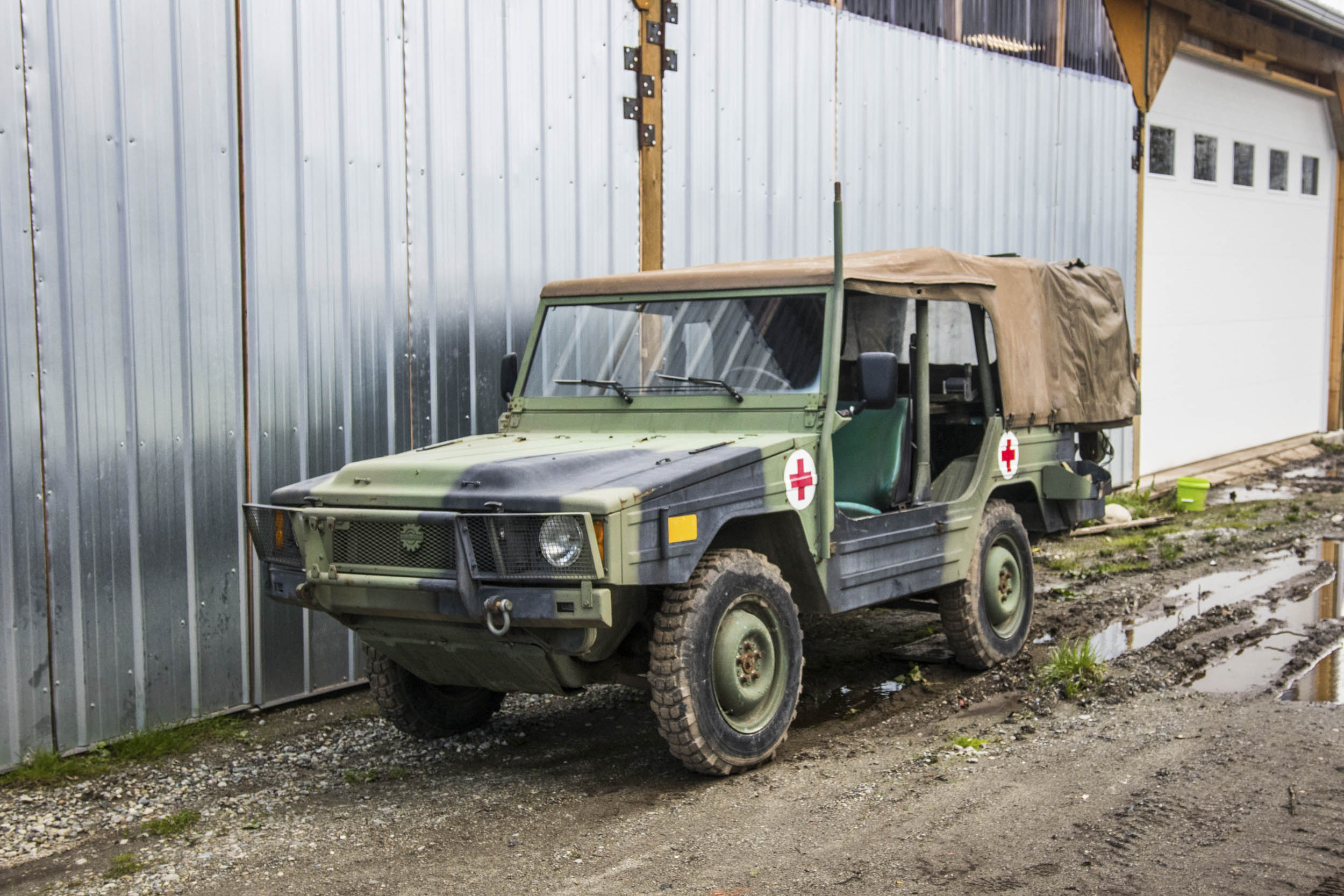 Only a handful of ambulance-spec Iltis were made for the Canadian military by Bombardier. This one is on its way to a museum in Victoria, B.C.