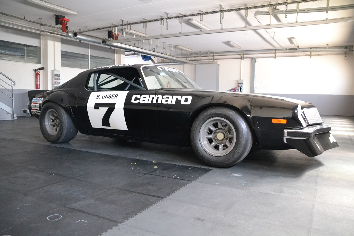 The original IROC Camaro kept the steel bodywork, adding only a fiberglass front spoiler and pop-riveted fender flares.