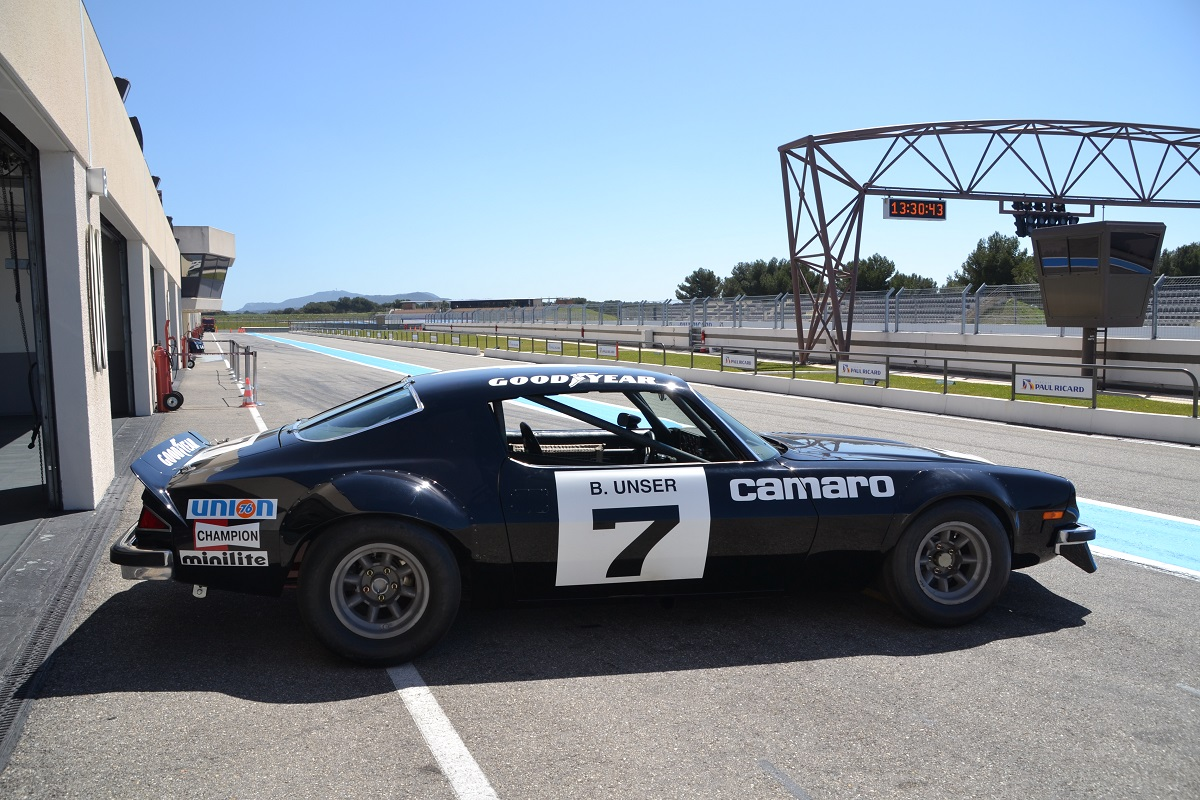 The #7 IROC Camaro currently resides in France, where GTC, a classic car dealership, has fully restored it.