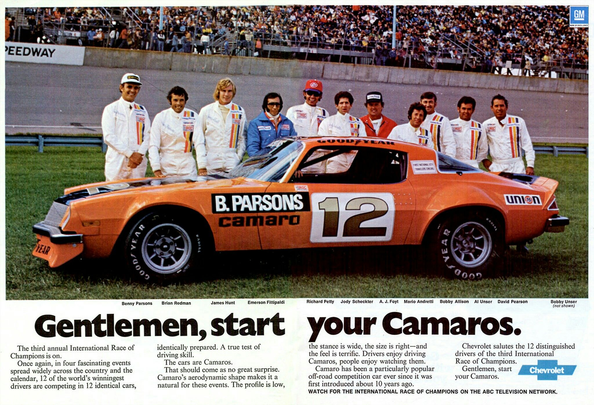 Chevy touted the IROC series in 1970s advertising, but it did not strike a licensing deal to use the name on a production Camaro until 1984 (for 1985 model year).