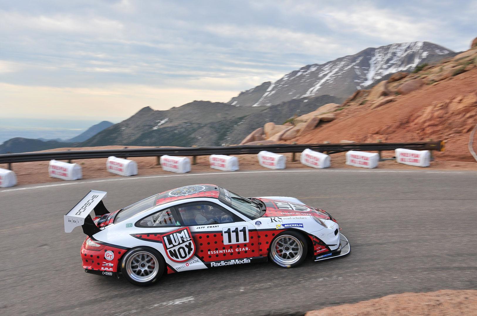 Jeff Zwart Porsche climbing Pikes Peak