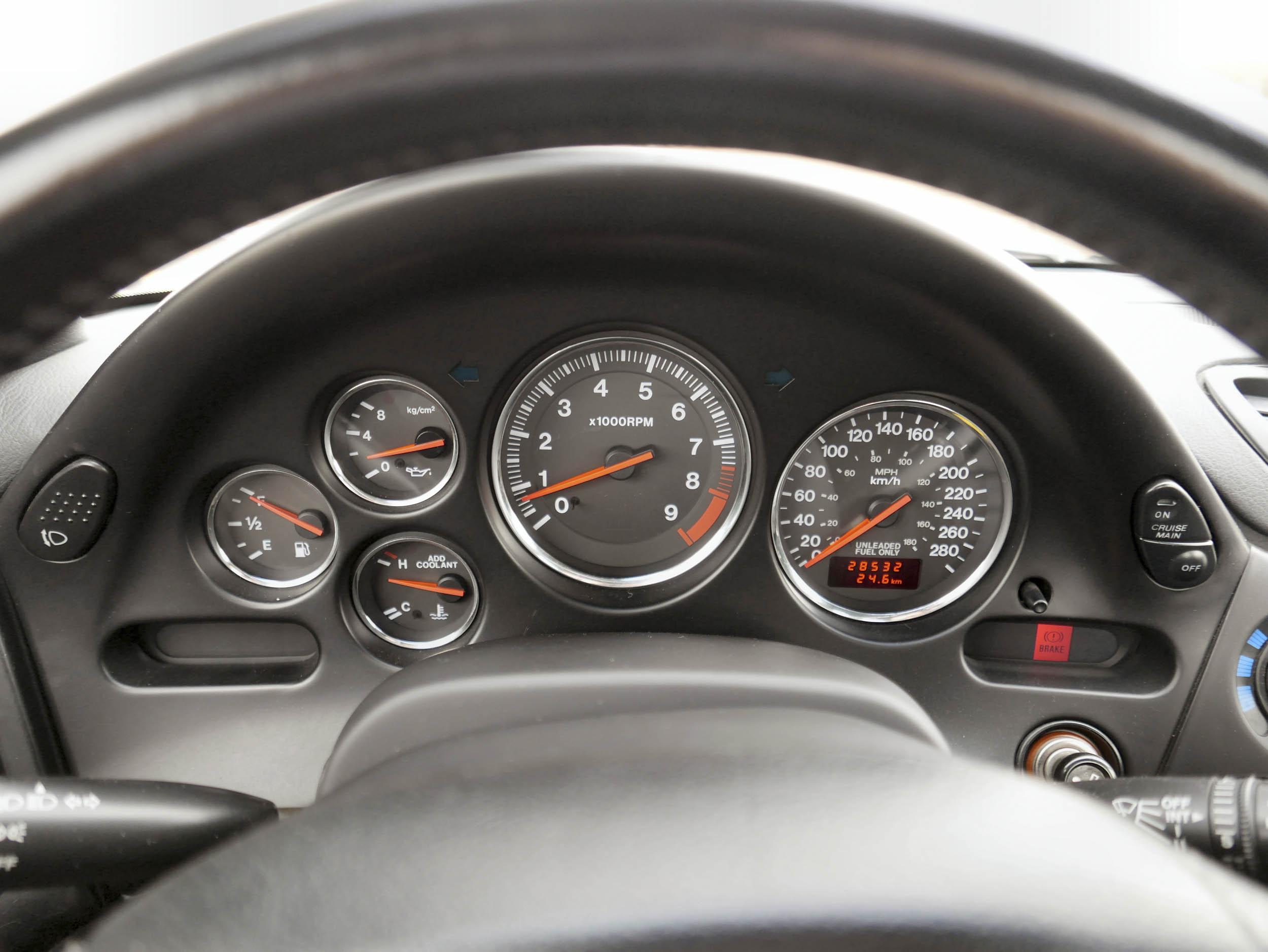 Mazda RX-7 gauge cluster