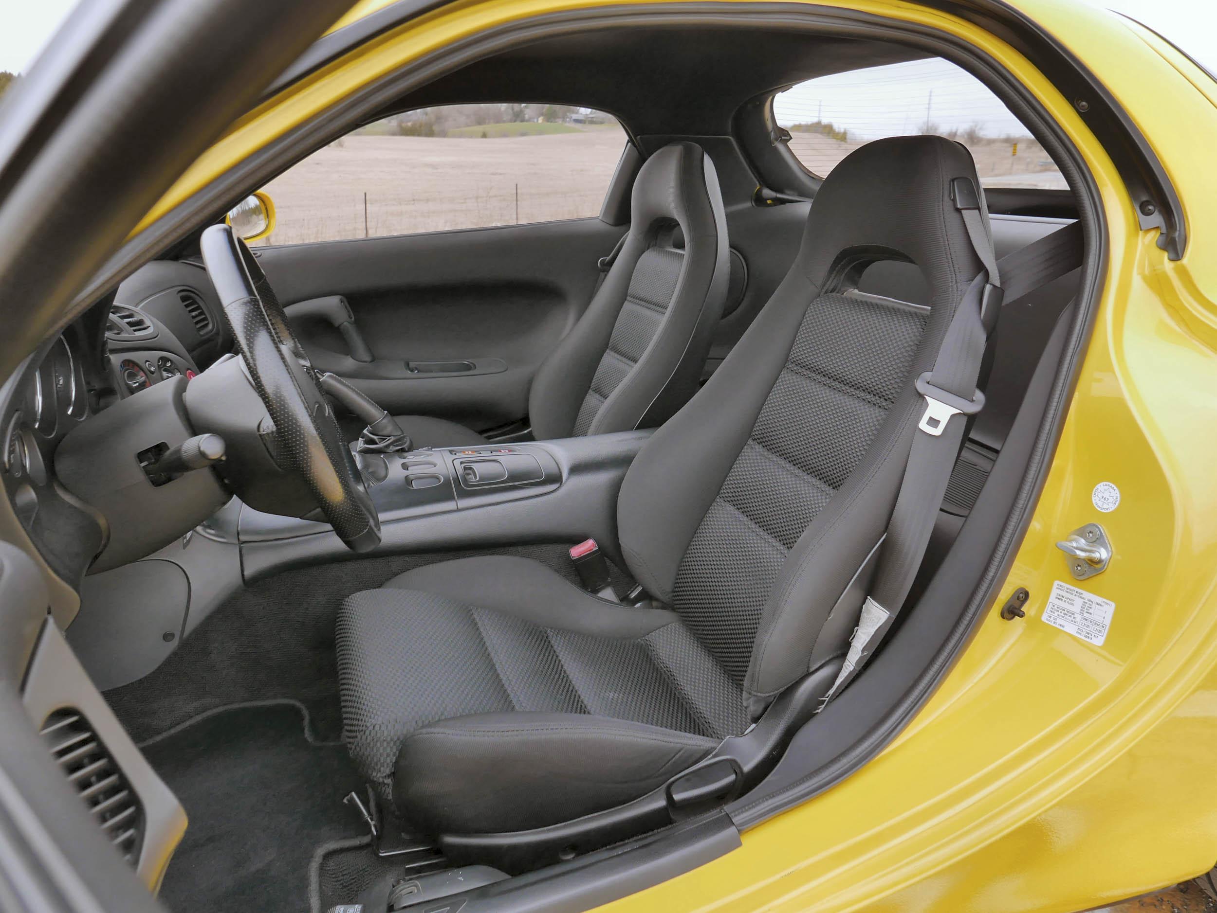 Mazda RX-7 driver seat