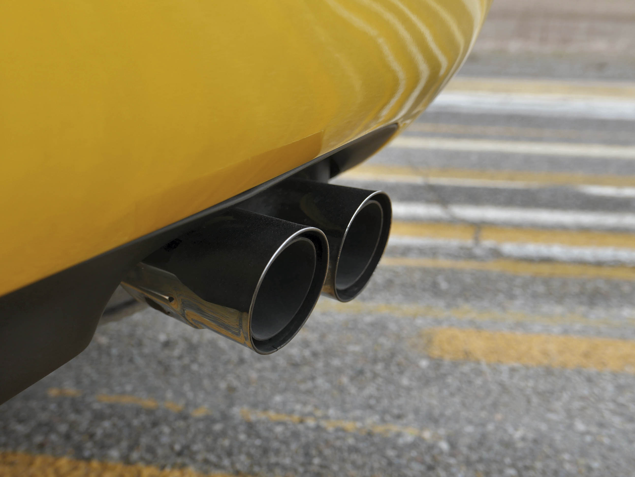 Mazda RX-7 tail pipes