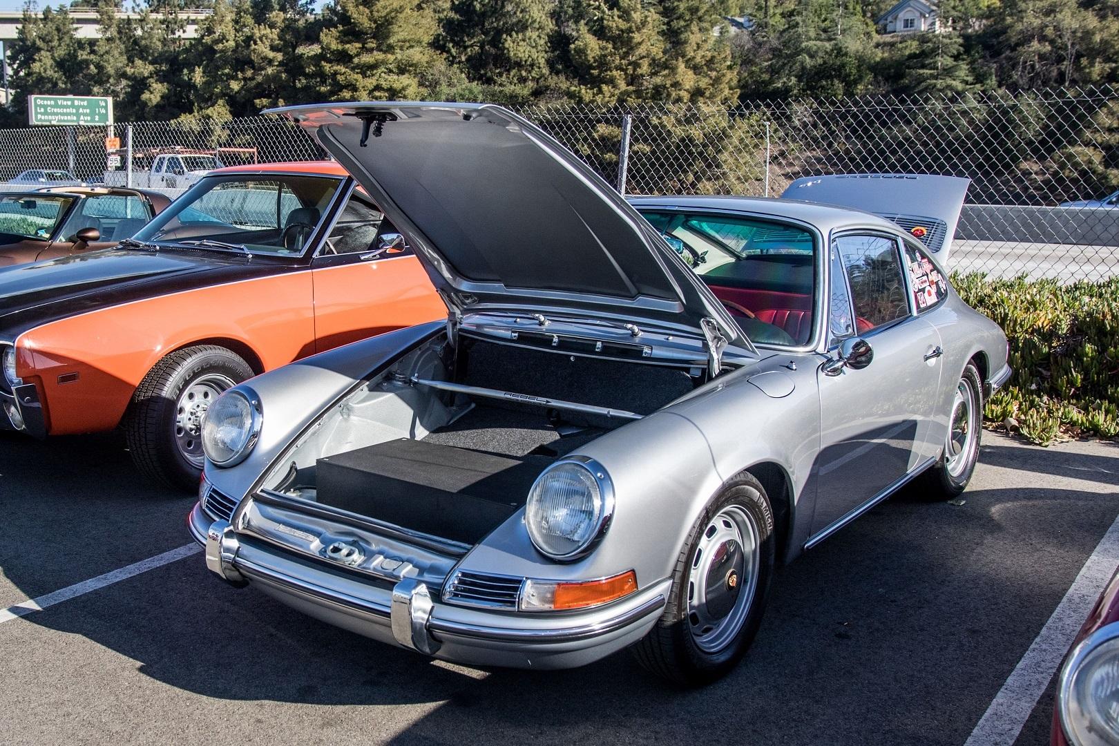 Electric Porsche 912 Front Trunk Open