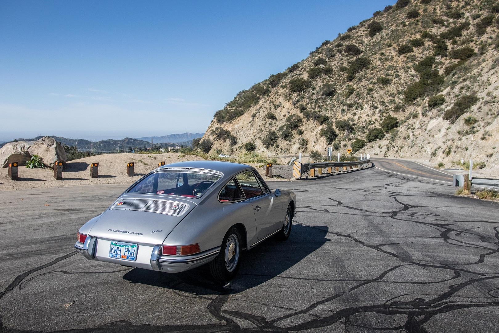Electric Porsche 912 Rear 3/4